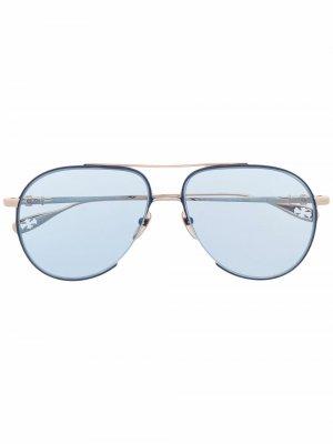 Солнцезащитные очки-авиаторы Steppin Chrome Hearts. Цвет: синий