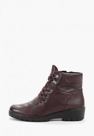 Ботинки Caprice. Цвет: бордовый