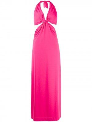 Вечернее платье с вырезом халтер Fisico. Цвет: розовый