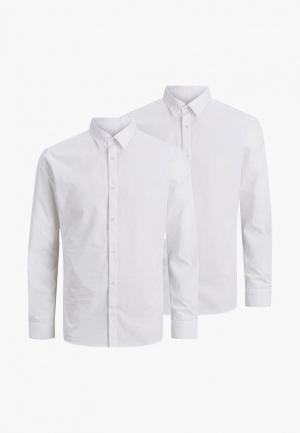 Рубашки 2 шт. Jack & Jones. Цвет: белый