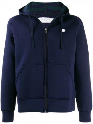 Куртка-бомбер с капюшоном Société Anonyme. Цвет: синий