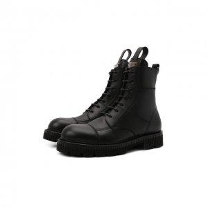 Кожаные ботинки Dolce & Gabbana. Цвет: чёрный