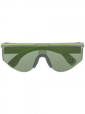 Солнцезащитные очки в геометричной оправе Converse. Цвет: серый