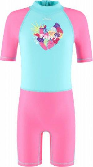 Плавательный костюм для девочек , размер 110 Joss. Цвет: голубой