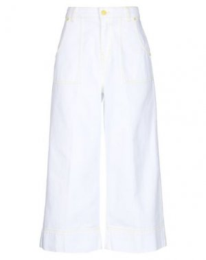 Джинсовые брюки-капри GAëLLE Paris. Цвет: белый