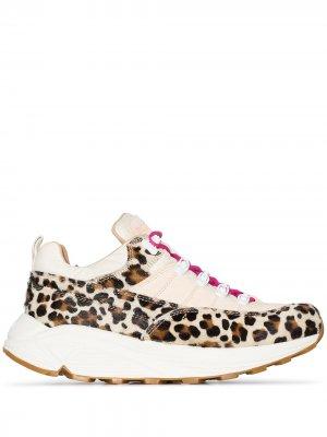 Кроссовки Montegrappa с леопардовым принтом Diemme. Цвет: нейтральные цвета