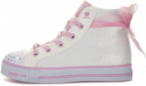 Кеды высокие для девочек Ms. Sparkle Beauty, размер 28.5 Skechers. Цвет: белый
