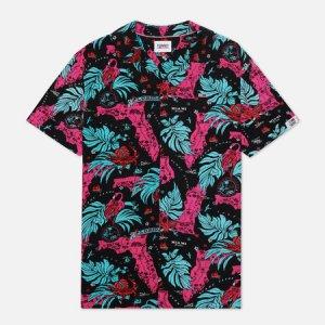 Мужская рубашка Miami Tropical Print Tommy Jeans. Цвет: чёрный