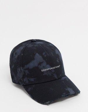 Черная бейсболка с логотипом -Черный Good For Nothing