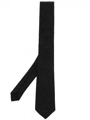 Галстук с заостренным концом Bottega Veneta. Цвет: черный