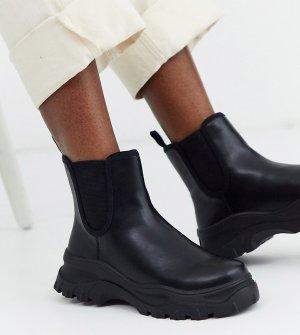 Черные ботинки челси sporty-Черный Monki