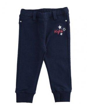 Повседневные брюки KRYTIK. Цвет: синий