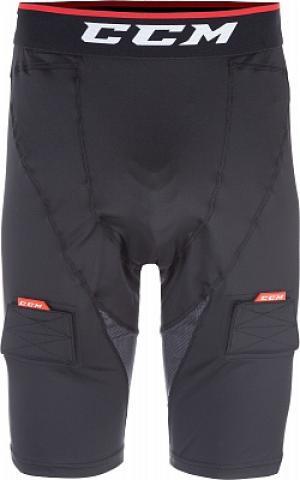 Шорты хоккейные Compr Shorts Jock CCM. Цвет: черный