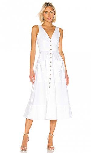 Платье миди zoey SALONI. Цвет: белый