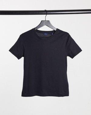 Темно-синяя футболка с круглым вырезом GANT-Темно-синий Gant