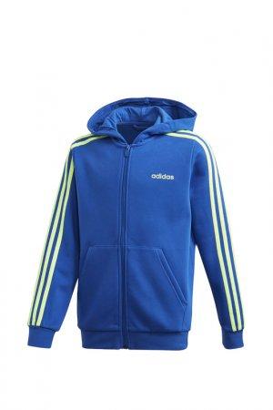 Толстовка YB E 3S FZ HD adidas. Цвет: синий