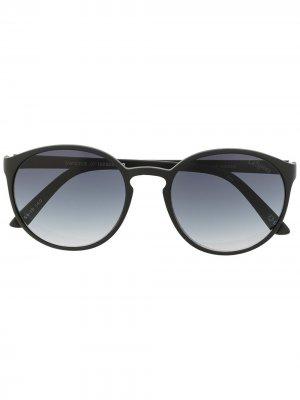Солнцезащитные очки в круглой оправе Le Specs. Цвет: черный