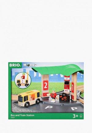 Конструктор Brio Станция 2-в-1 Авто и Ж/Д вокзал. Цвет: разноцветный