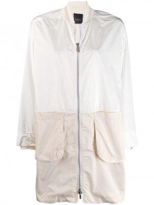 Длинная куртка-бомбер Lorena Antoniazzi. Цвет: белый