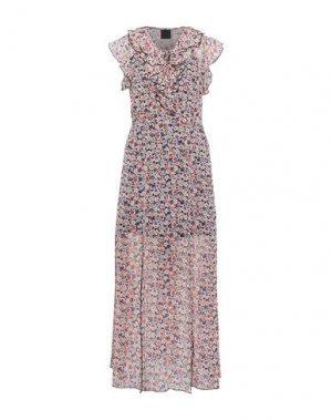 Длинное платье ANNA SUI. Цвет: светло-розовый