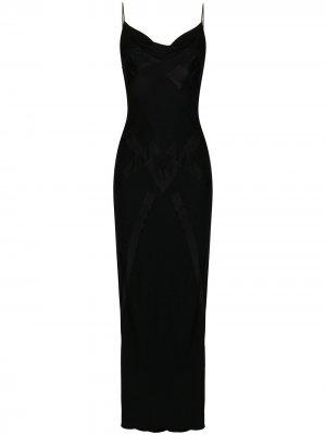 Платье-комбинация с V-образным вырезом John Galliano Pre-Owned. Цвет: черный