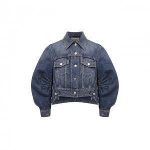 Джинсовая куртка Alexander McQueen. Цвет: синий