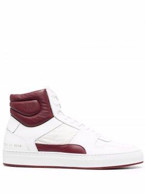 Высокие кроссовки на шнуровке Common Projects. Цвет: белый