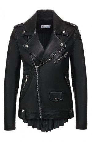 Кожаная куртка REDVALENTINO. Цвет: чёрный