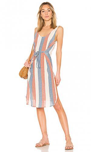 Пляжное платье ribbon ZULU & ZEPHYR. Цвет: красный