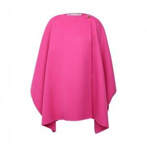 Пончо из шерсти и кашемира Valentino. Цвет: розовый