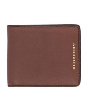 Бумажник BURBERRY. Цвет: желто-коричневый