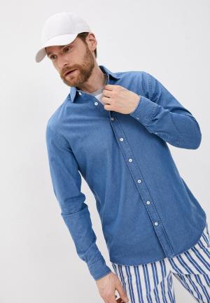 Рубашка джинсовая Hackett London. Цвет: синий