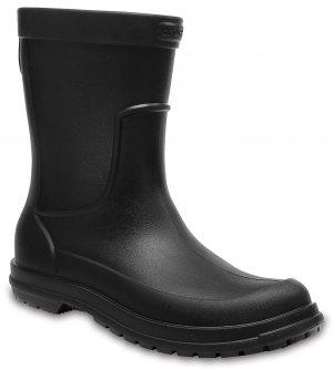Резиновые сапоги мужские CROCS Mens AllCast Rain Boot Black/Black (Черный) арт. 204862. Цвет: черный