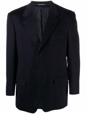 Кашемировый однобортный пиджак 2000-х годов Yves Saint Laurent Pre-Owned. Цвет: синий