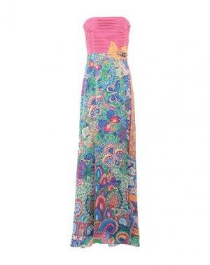 Длинное платье HANITA. Цвет: фуксия