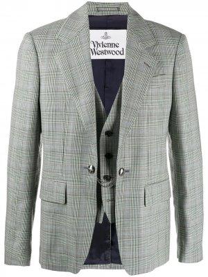 Многослойный однобортный пиджак Vivienne Westwood. Цвет: черный