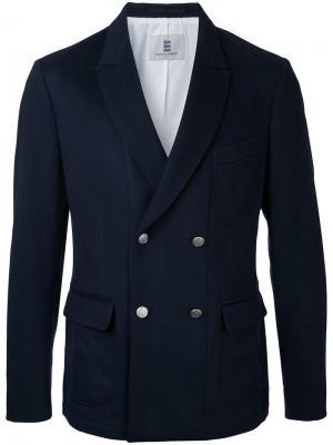 Двубортный пиджак Kent & Curwen. Цвет: синий