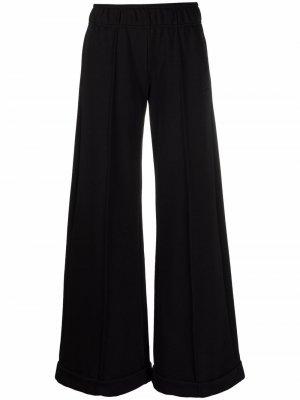Elasticated flared trousers 8pm. Цвет: черный