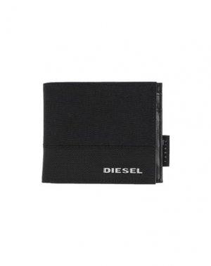 Бумажник DIESEL. Цвет: черный