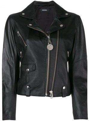 L-LYF biker jacket Diesel. Цвет: черный