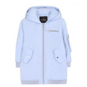 Удлиненная куртка с капюшоном Designers, Remix girls. Цвет: синий