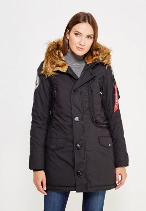 Парка Alpha Industries Polar Jacket. Цвет: черный