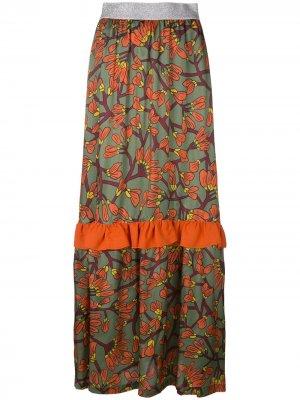IM Isola Marras длинная юбка с цветочным рисунком и оборками I'M. Цвет: разноцветный