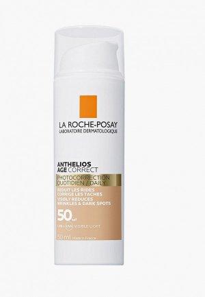 Крем для лица La Roche-Posay солнцезащитный ANTHELIOS СС, антивозрастной SPF50, 50 мл. Цвет: белый