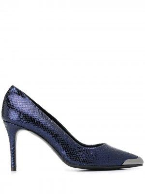 Туфли-лодочки со вставкой на носке Albano