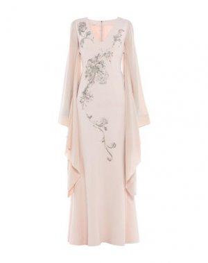 Длинное платье ANTONIO BERARDI. Цвет: телесный