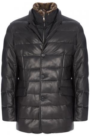 Утепленная кожаная куртка Al Franco