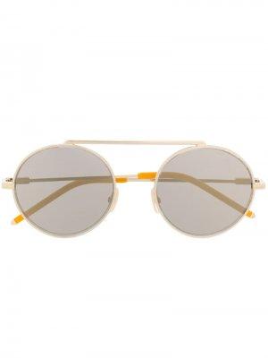 Солнцезащитные очки в круглой оправе Fendi Eyewear. Цвет: серый