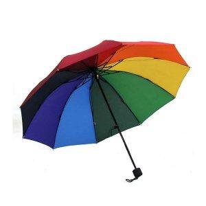 Зонт в полоску радуги SHEIN. Цвет: многоцветный