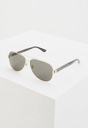 Очки солнцезащитные Gucci GG0528S 006. Цвет: золотой